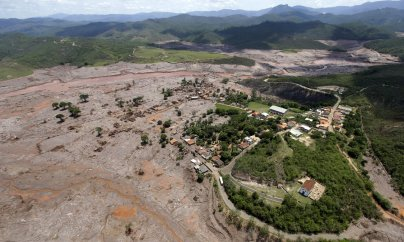 Doce river polluted by tailings