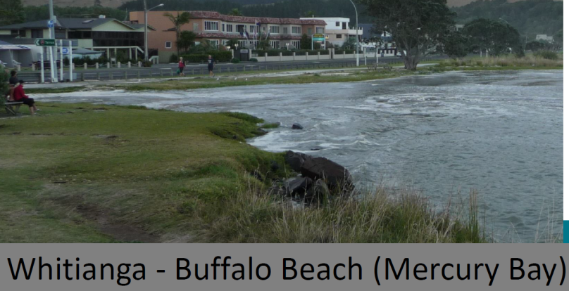 Whitianga Buffalo Beach King Tide Feb 2 2014