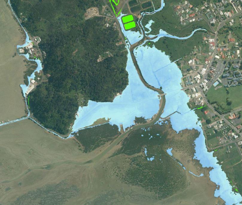 2.80 m 0.5 slr plus mid storm surge
